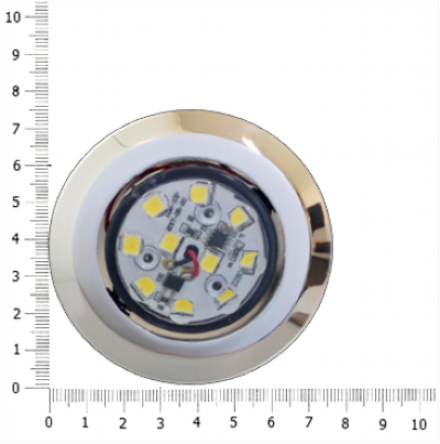 LUMINARIA SPOT LED 2W BIVOLT - BORDA MENOR CROMADA