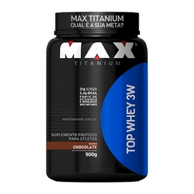 TOP WHEY 3W (900G) MAX TITANIUM - CHOCOLATE