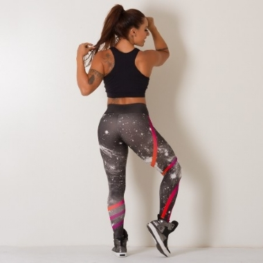 Legging Fitness Digital Galaxy