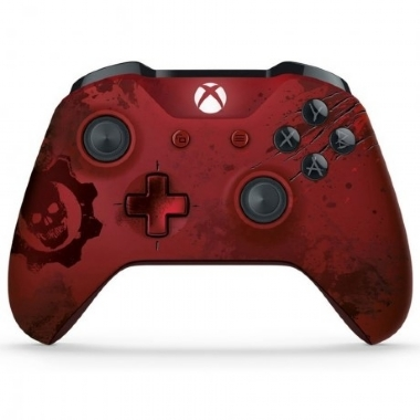 CONTROLE XBOX ONE S GEARS OF WAR 4 CRIMSON OMEN EDITION