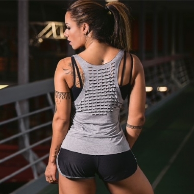 Camiseta Fitness Laser Escamas