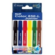 Caneta Hidrogáfica Pilot Color 850-L Junior c/6 cores