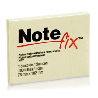 Post It 76mmX102mm Amarelo Note Fix Bloco 100 Fls